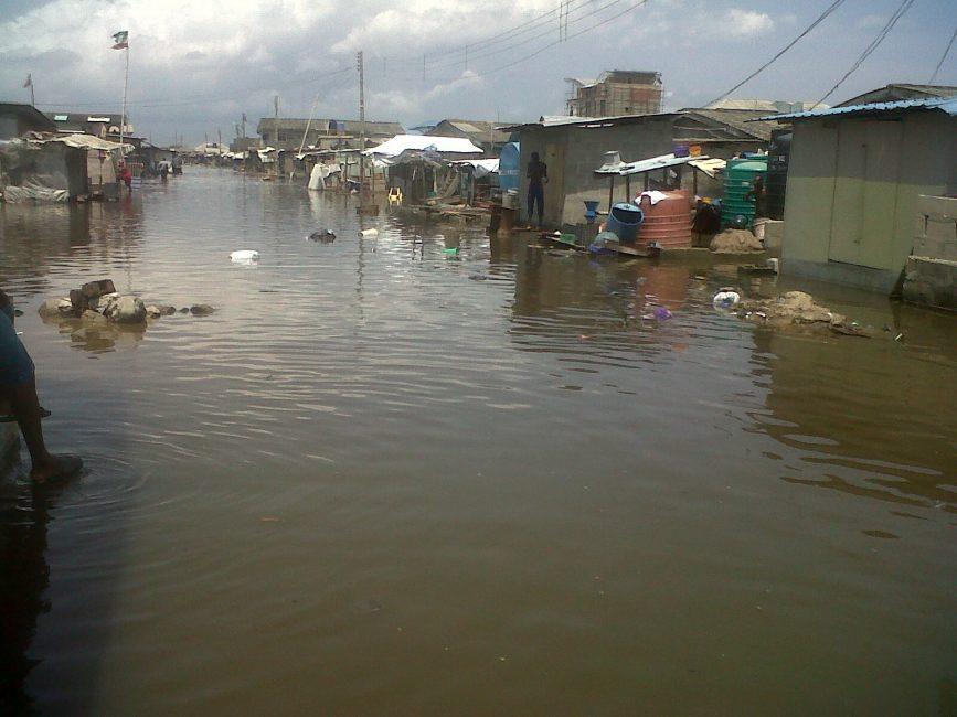 Epidemic looms as Atlantic Ocean inundates Lagos community